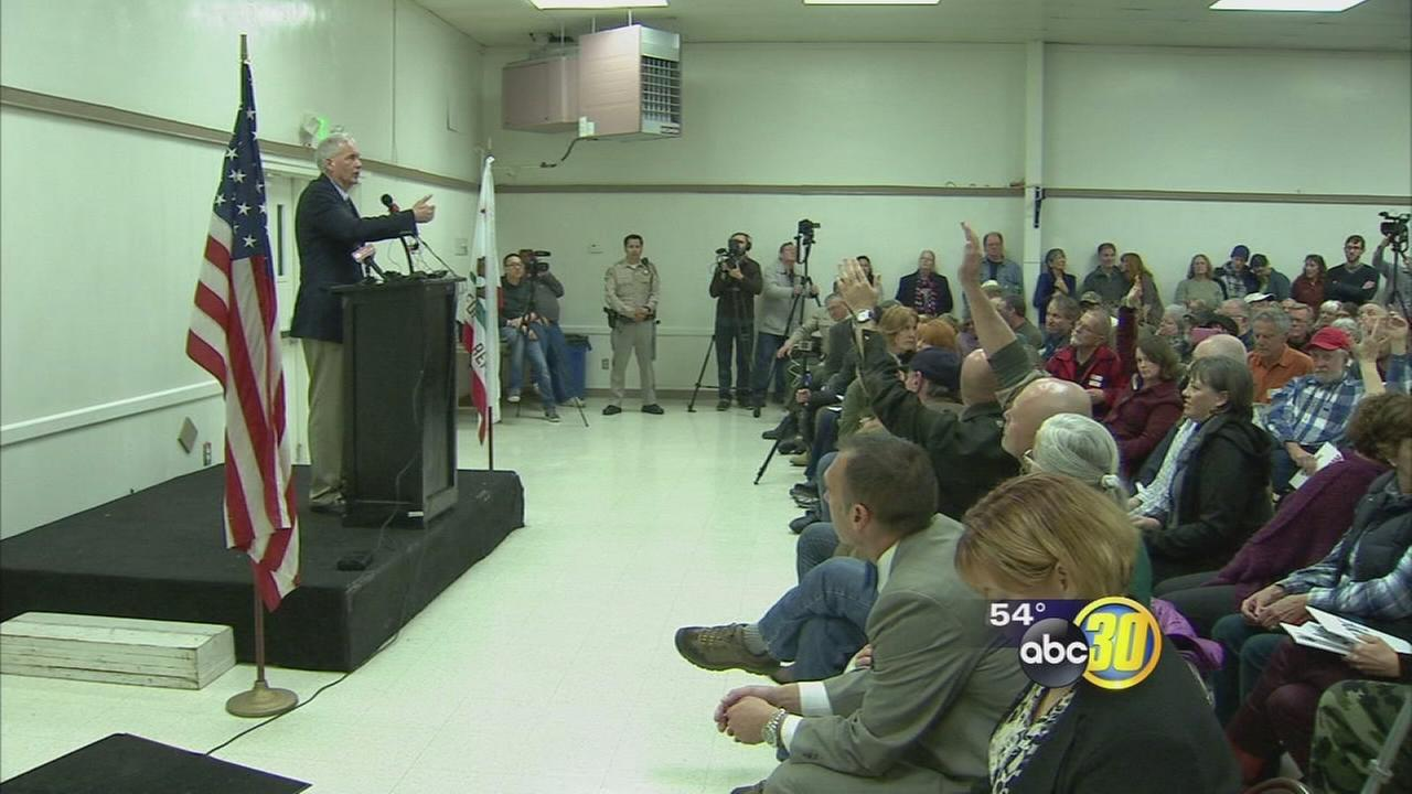 Town hall meeting in Mariposa with Congressman McClintock gets heated