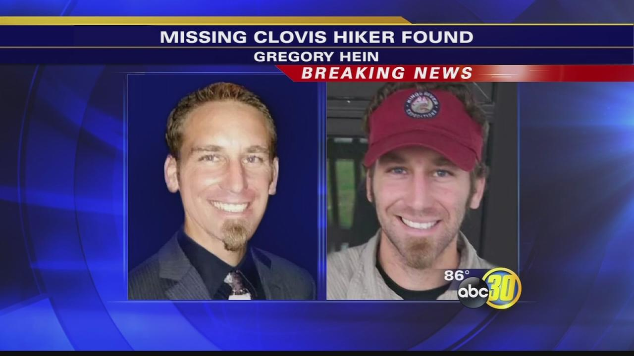 Missing hiker from Clovis has been found alive