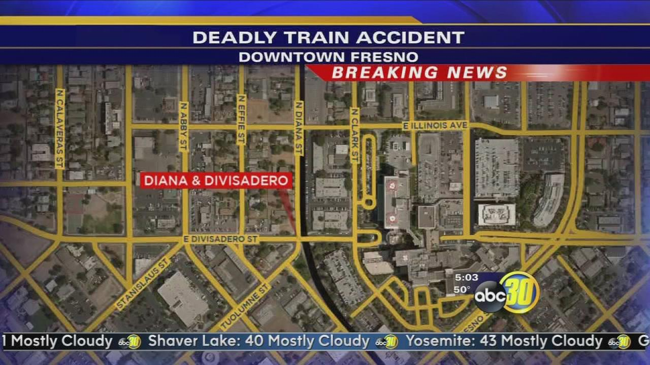 Man hit by a train in Downtown Fresno