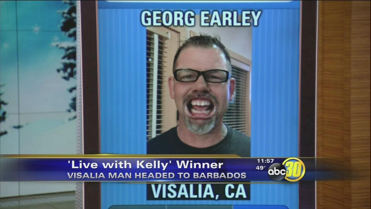 Visalia man wins trip on Live with Kelly