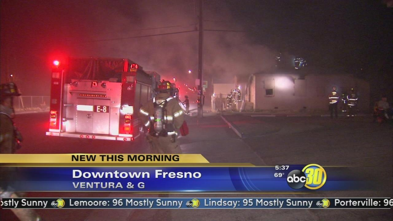 Authorities investigate suspicious fire in Downtown Fresno