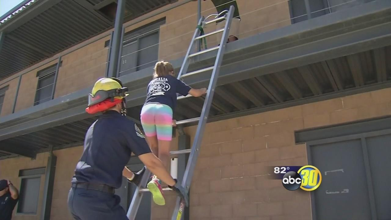 Visalia fire camp teaches kids about fire safety