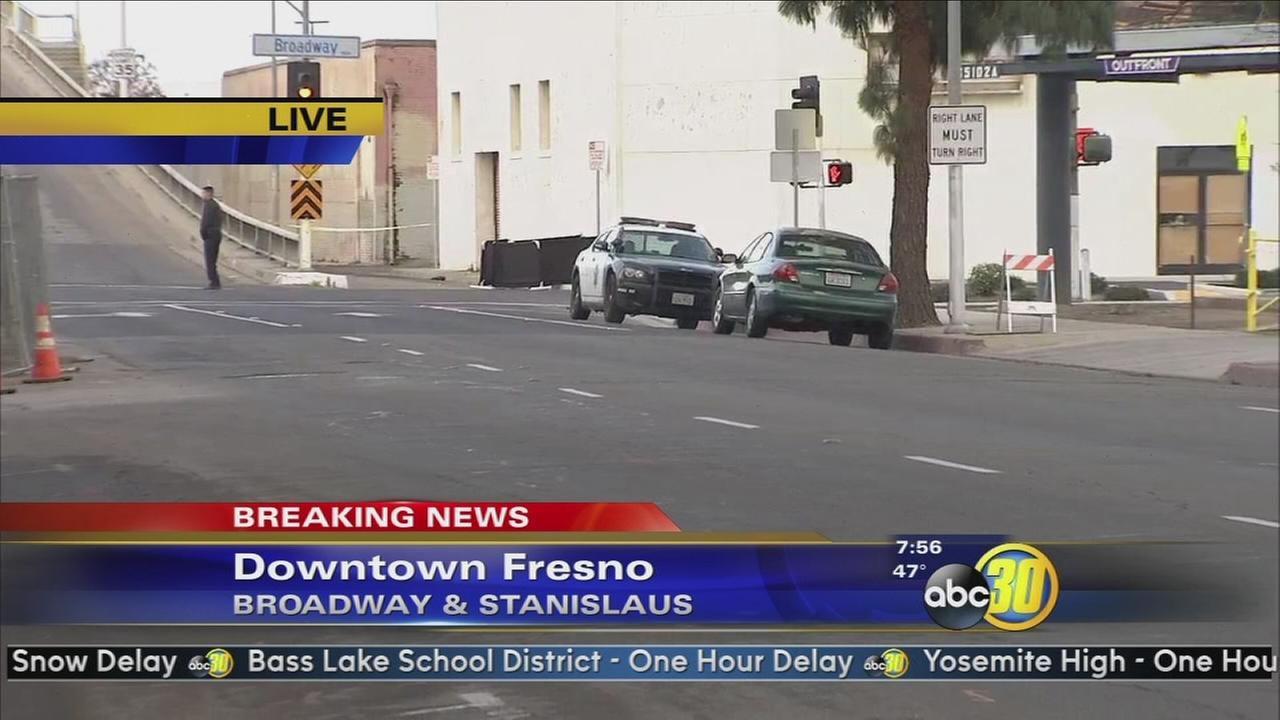 Police are investigating a homicide in Downtown Fresno