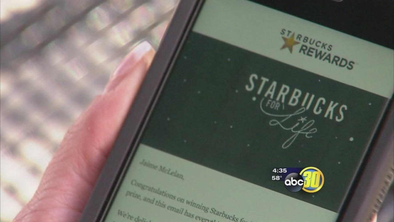 Fresno woman wins Starbucks for Life contest
