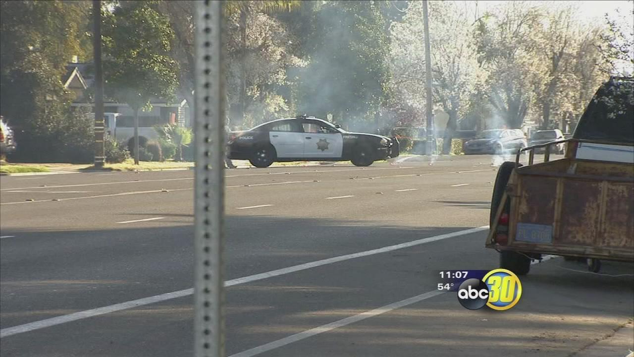 Man injured in Central Fresno hit and run