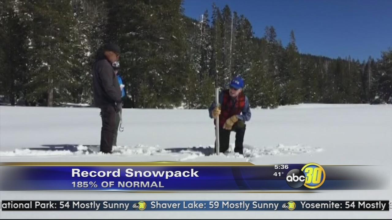 Sierra snowpack at 185 percent of normal