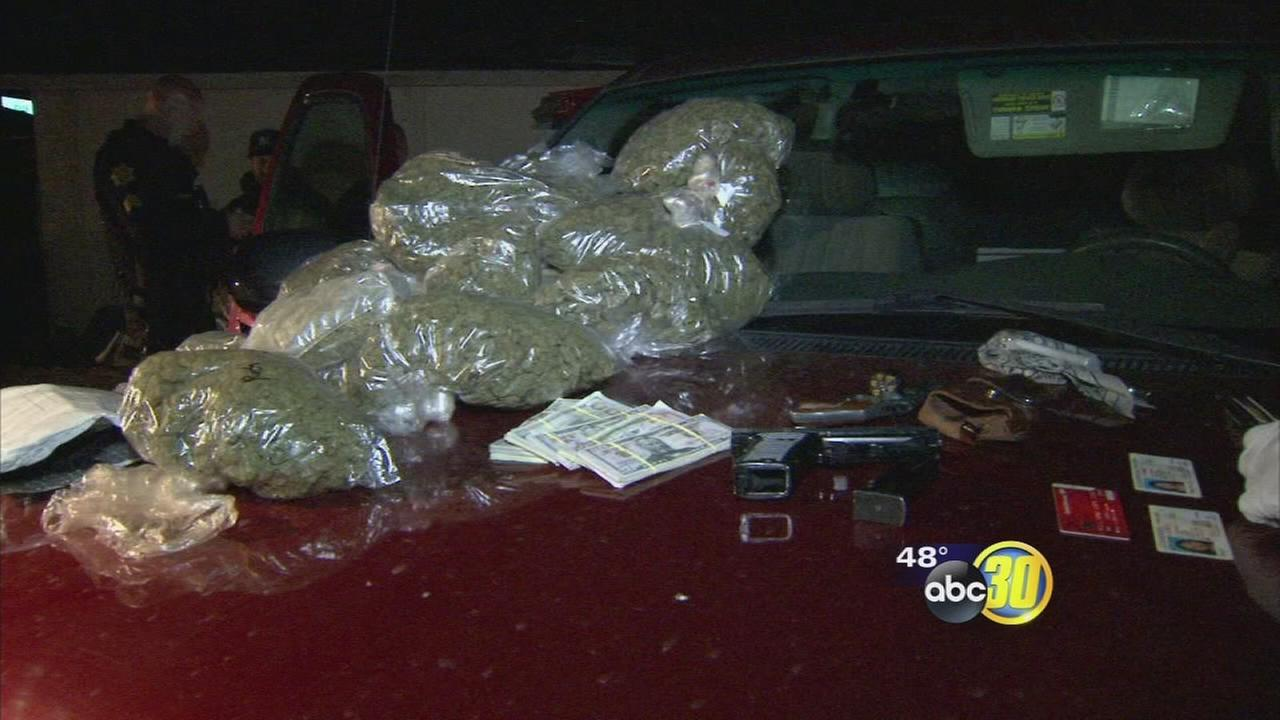 Fresno PD pulls over stolen car during crackdown, finding drugs, guns, and counterfeit money