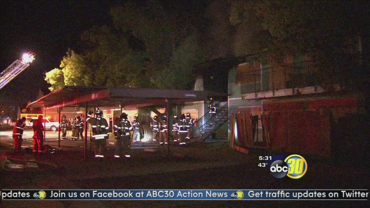 Dog found dead in a Central Fresno apartment fire