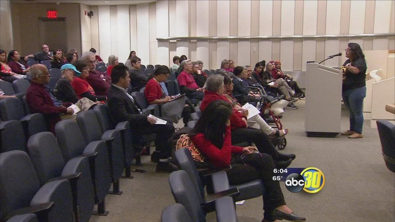 Immigrant women held rally at Fresno City Hall for International Womens Day