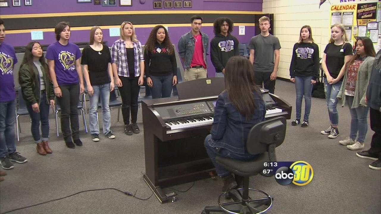 South Valley students anxiously awaiting the opportunity to sing with classic rock band Foreigner