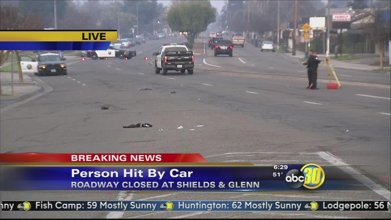 Man hit and killed by car in Central Fresno