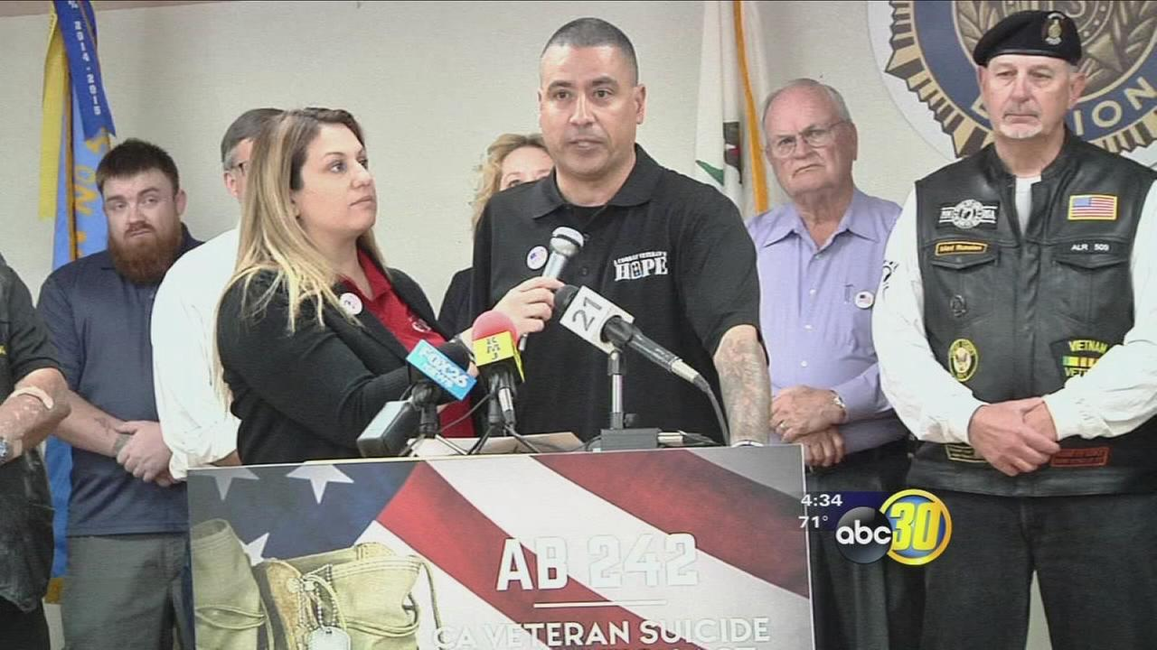 Veterans get together to support bill that will track veteran suicide in California