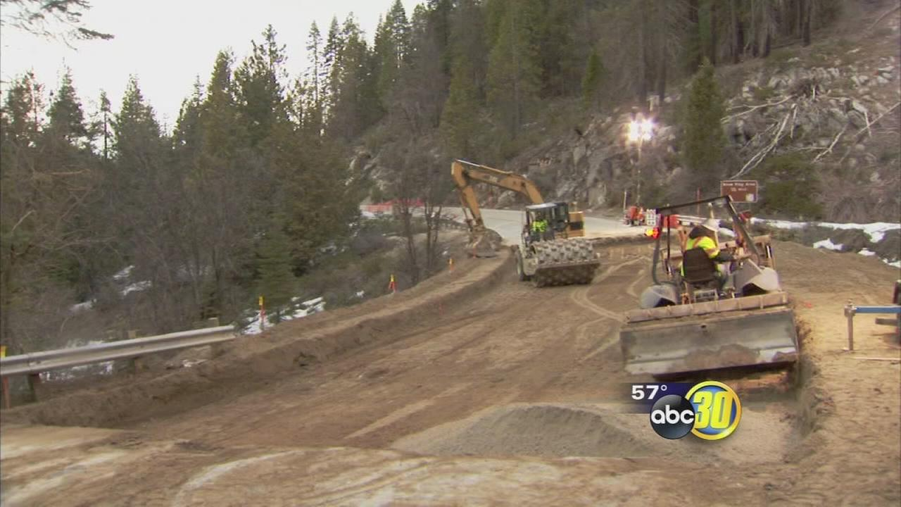 Major road to Yosemite nearly ready after weeks of construction