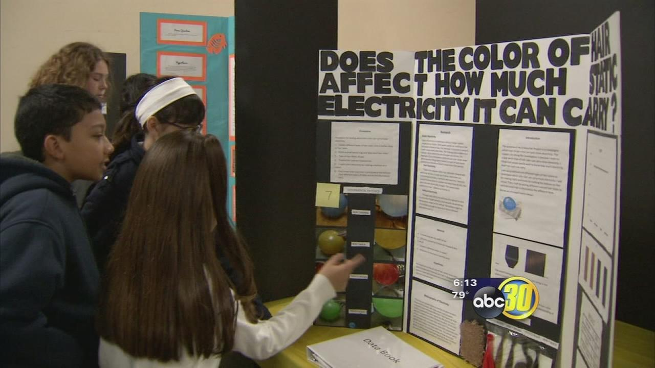 Students flock to Fresno Fairgrounds for science fair