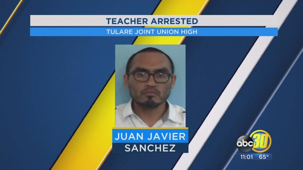 Tulare Union High School teacher arrested for allegedly sexually abusing a student