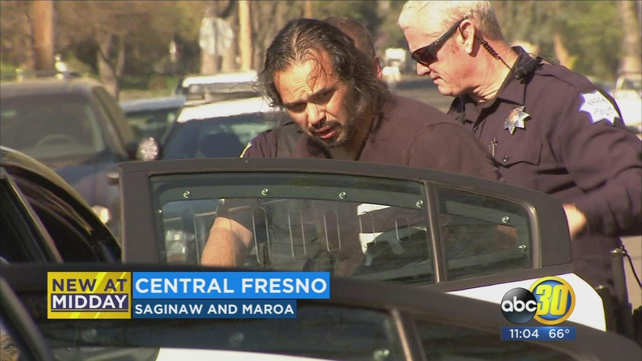 Man arrested after attempting to hit an officer with his car, Fresno police say