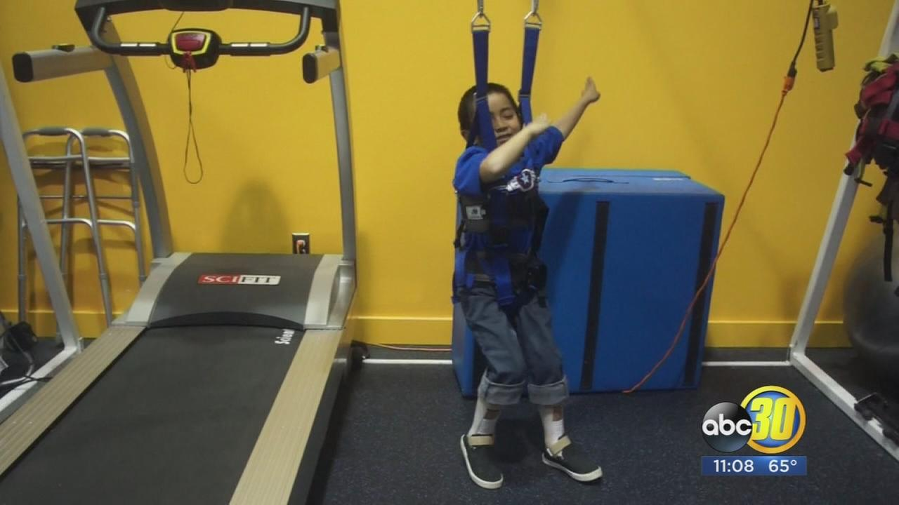 7-year-old Fresno boy dancing towards recovery after devastating spine injury