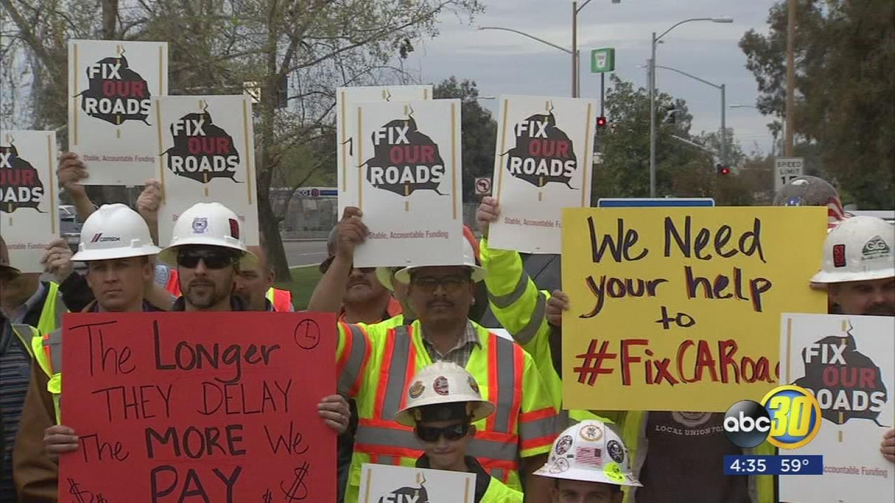 Caltrans crews call on CA lawmakers for more resources to fix roads