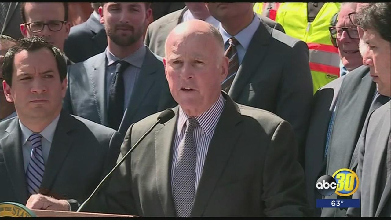 Gov. Brown and lawmakers propose largest gas tax increase in state history to help repair roads