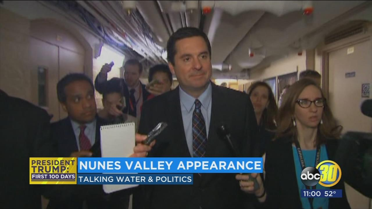 Rep Devin Nunes returns to the Valley amid controversy in Washington