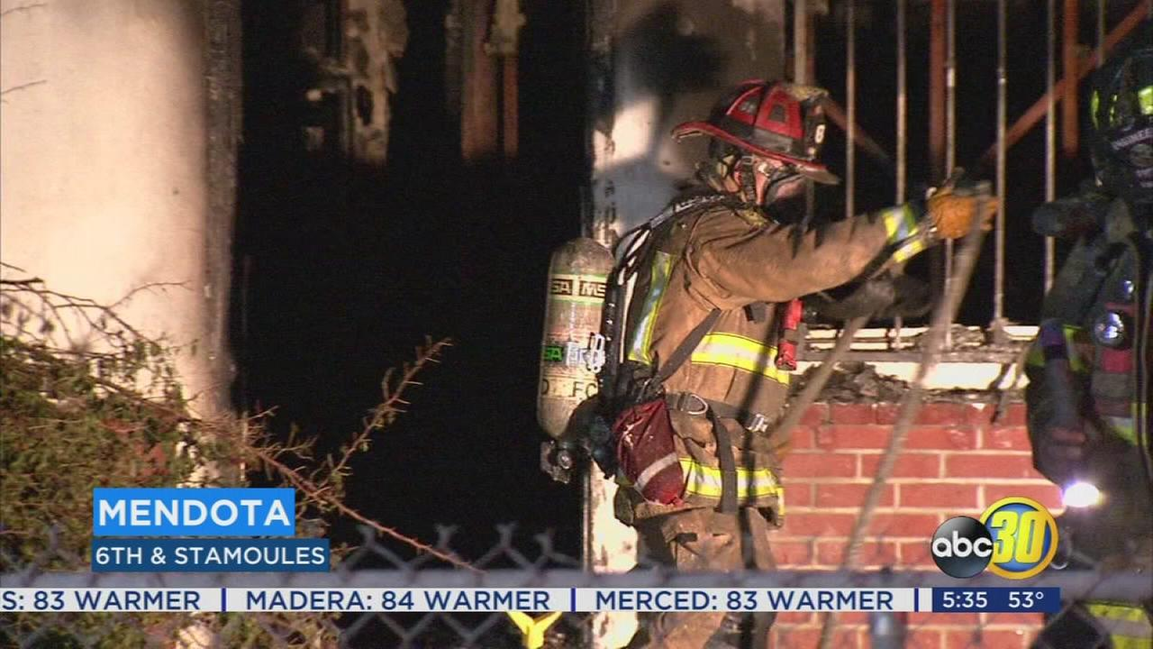 Squatters blamed for house fire in Mendota