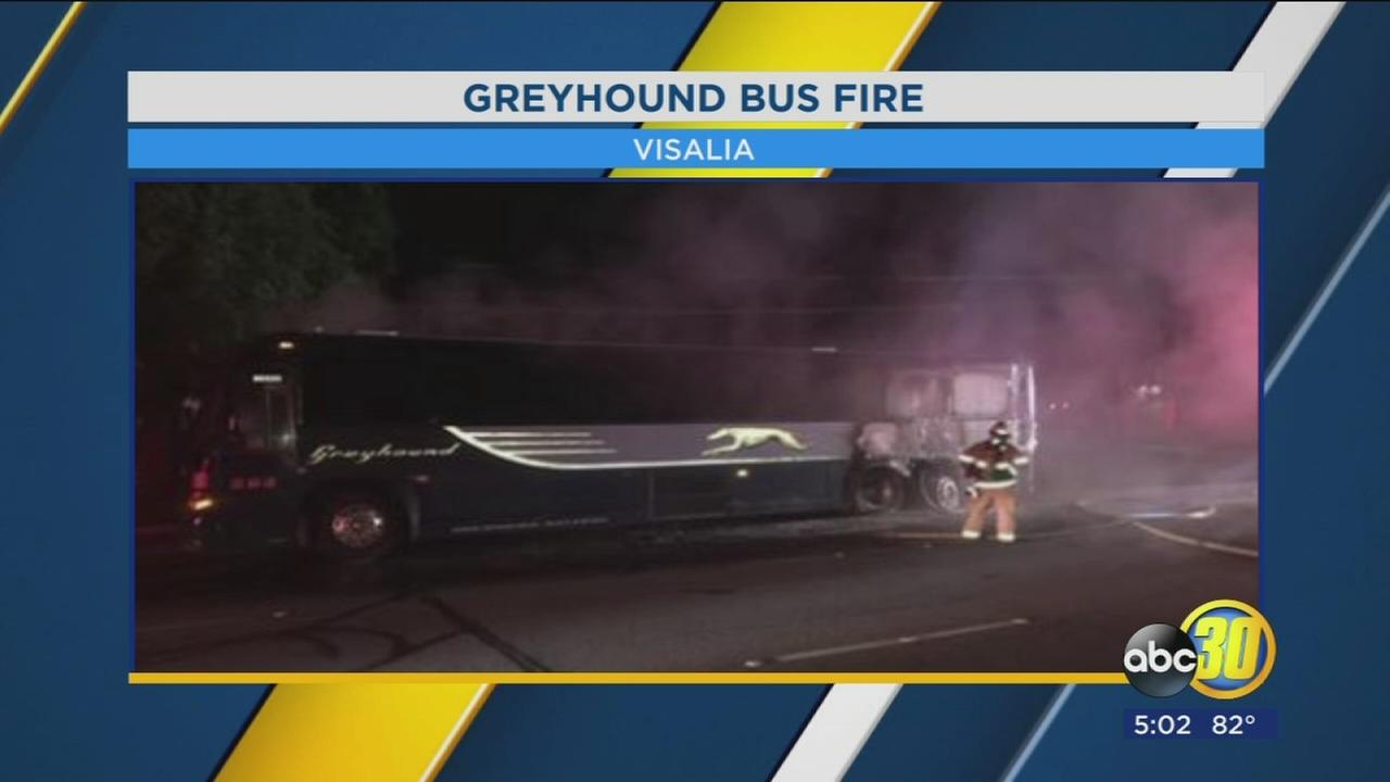 Visalia police investigating Greyhound Bus fire in downtown