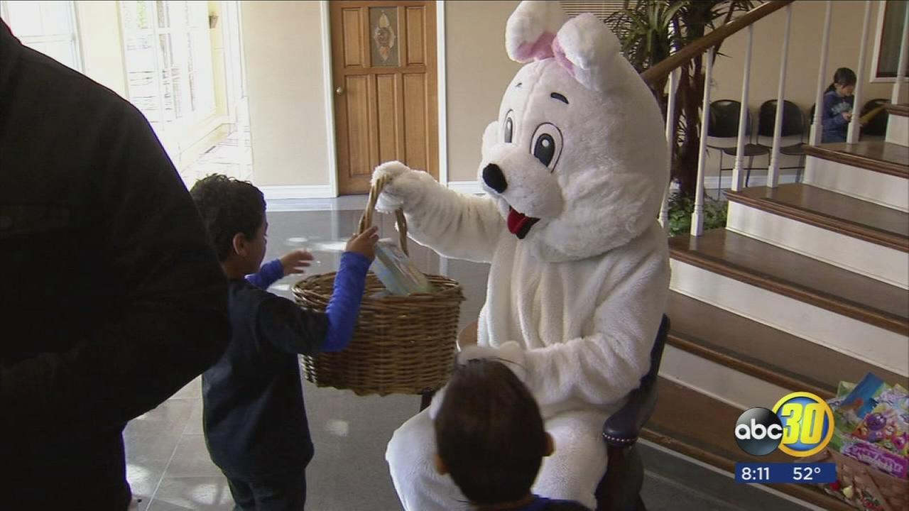 Volunteers give Fresno families early Easter surprise