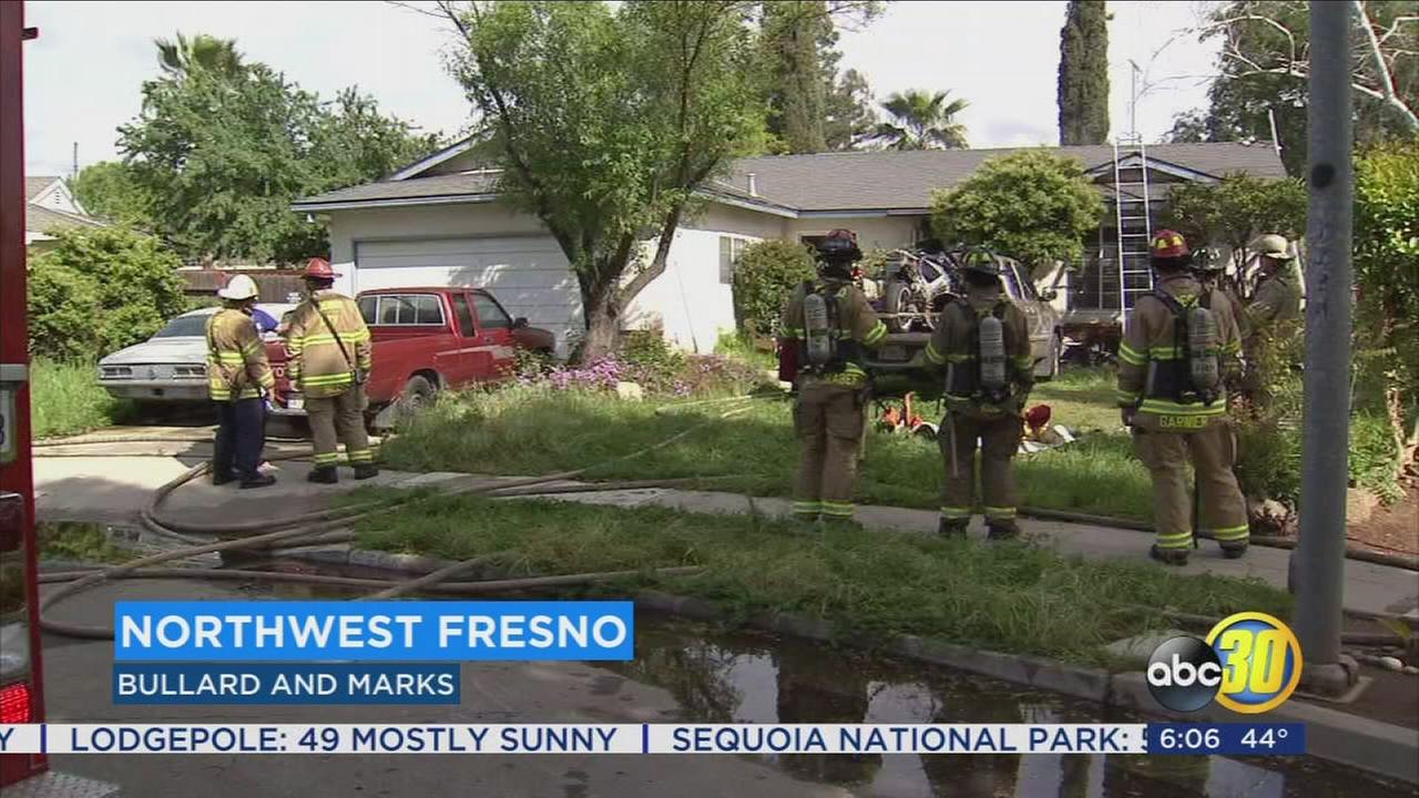 Fresno man injured rescuing cats from house fire