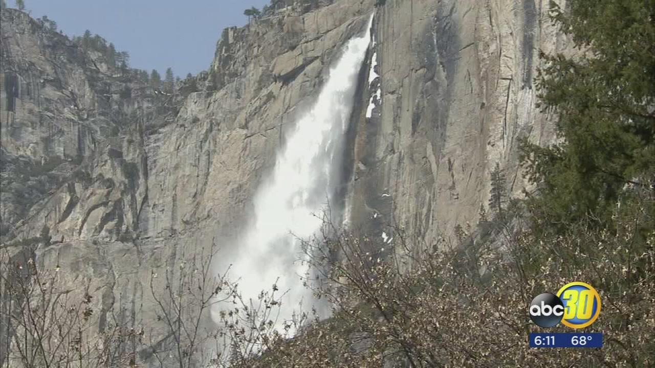 Yosemite waterfalls roaring just in time for spring break