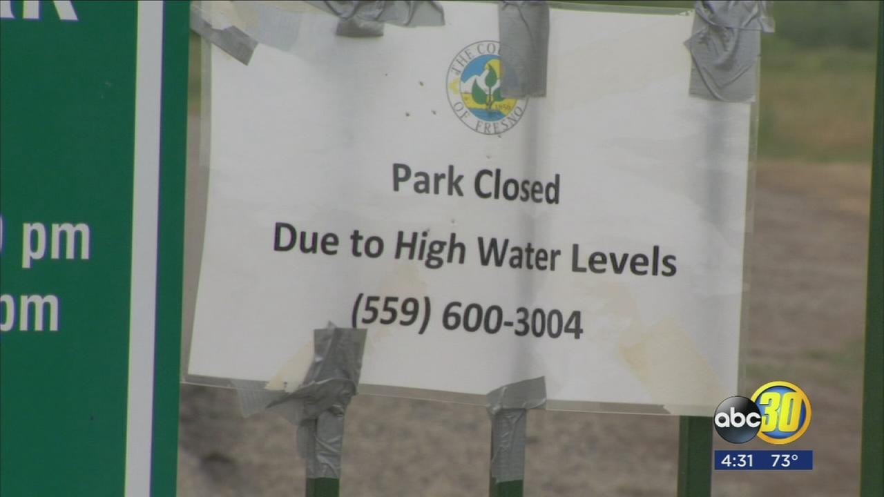 2 Fresno County parks closed due to high waters caused by water release from Friant Dam