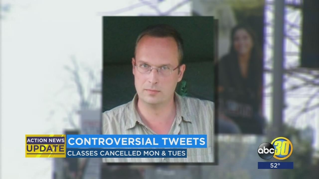 Fresno State professor who tweeted controversial comments about President Trump has classes canceled