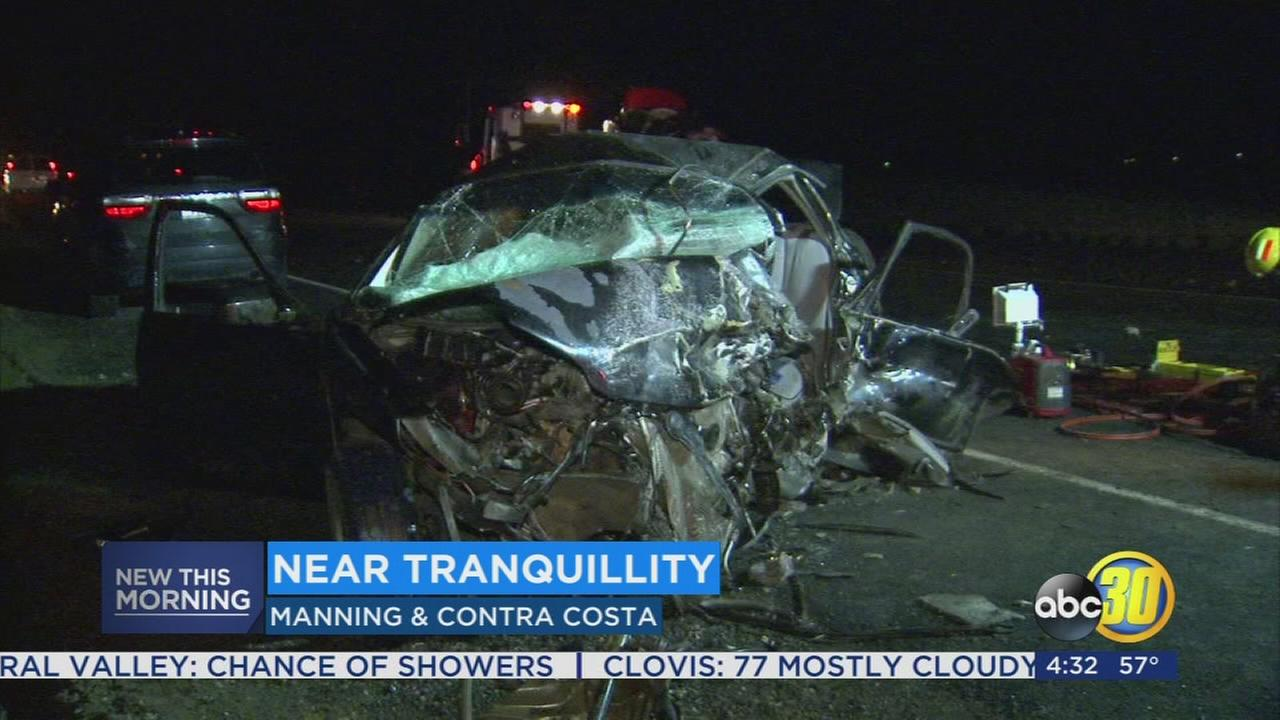 1 dead, 1 injured after head-on crash near Tranquillity