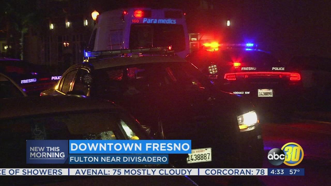 2 stabbed in fight between friends in Downtown Fresno