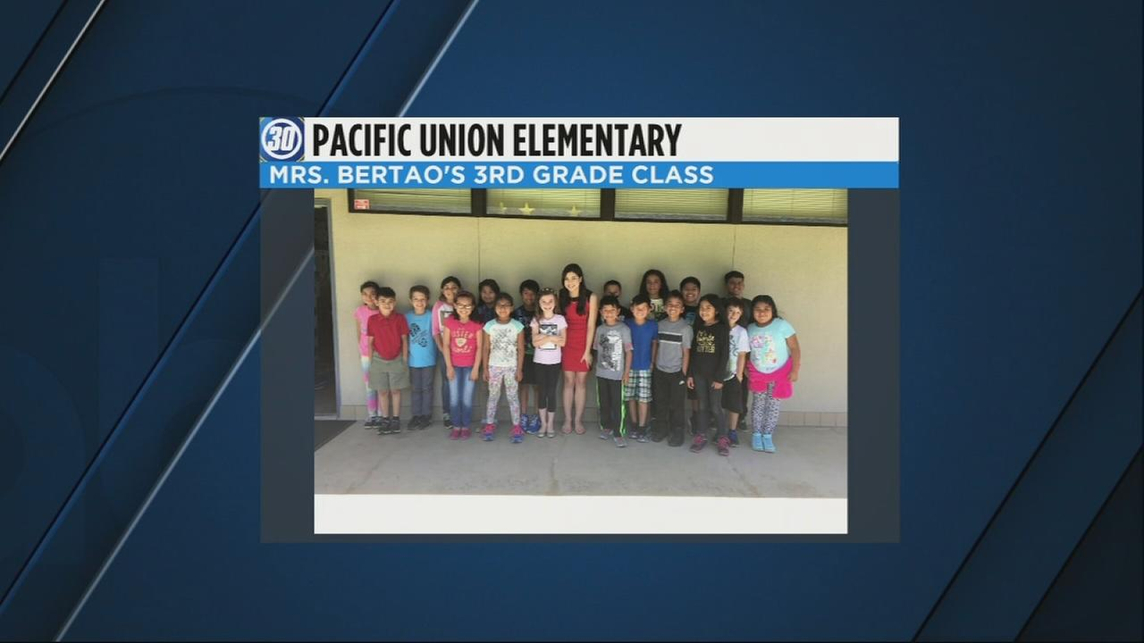 Children learn about meteorology at Pacific Union Elementary