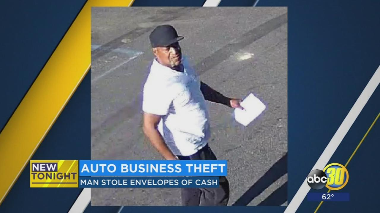 Police looking for man in connection with a theft at a business in East Central Fresno