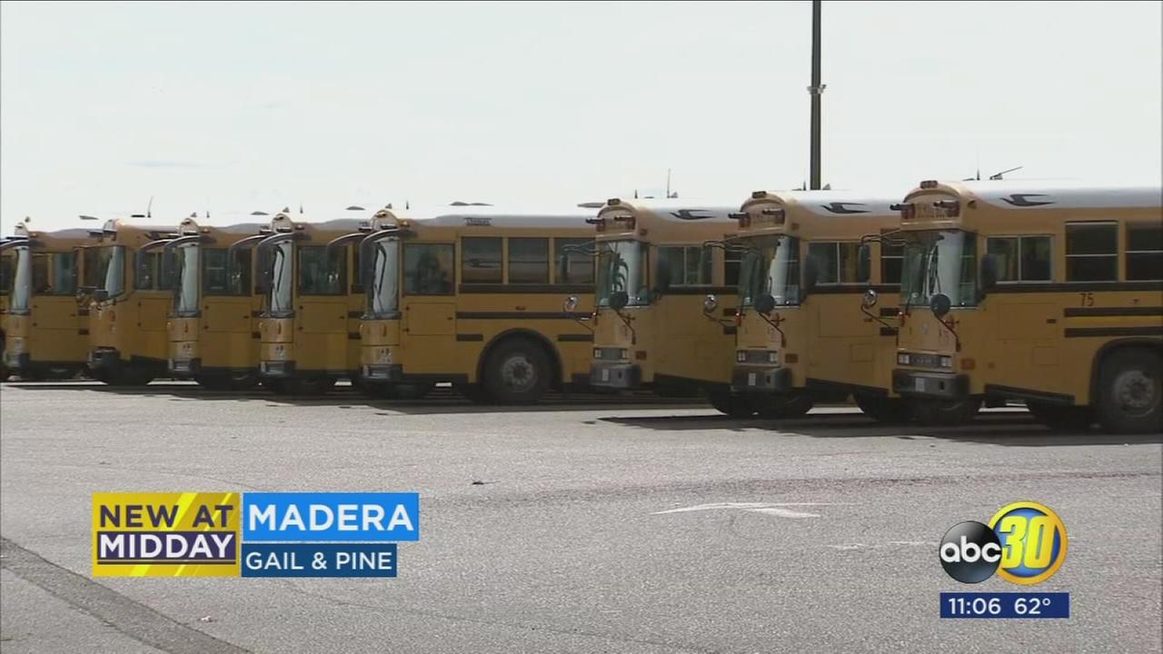 Madera school mechanic injured after being run over by bus