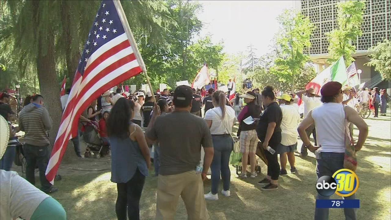 Hundreds in Fresno join nationwide May Day protests