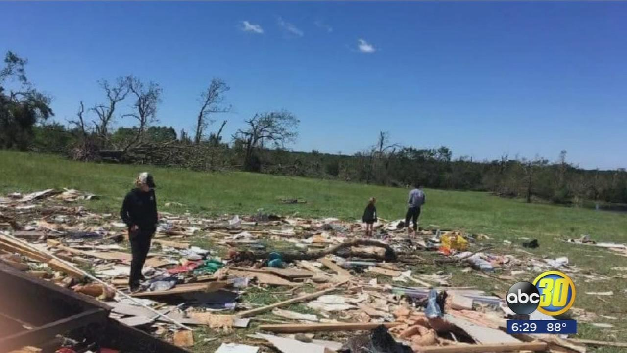 fresno family describes terrifying moments before tornado destroys texas home