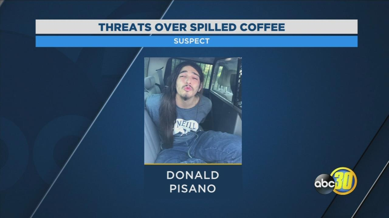 Man arrested in Madera County after threatening to shoot someone over spilled coffee