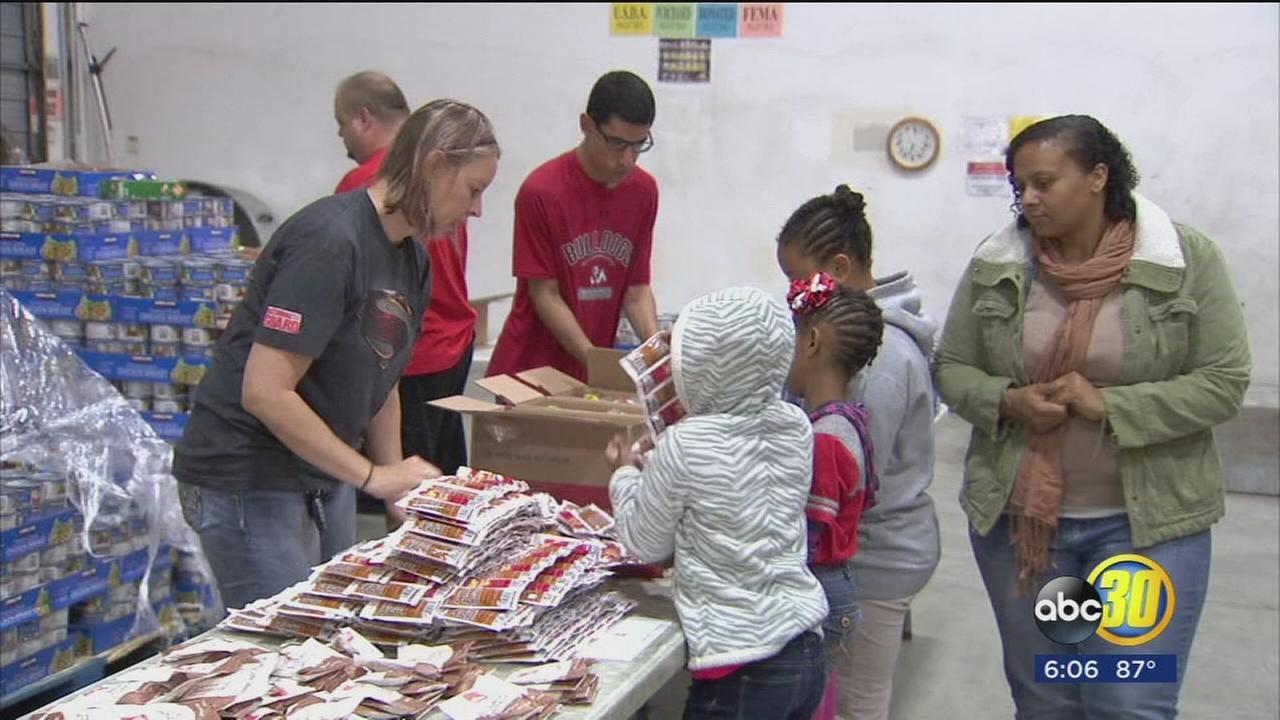 Despite low donations, Fresno Community Food Bank is making sure local kids dont go hungry