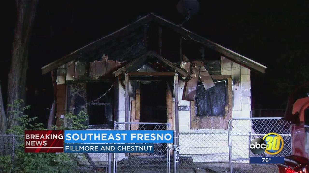1 person inured after house fire in Southeast Fresno