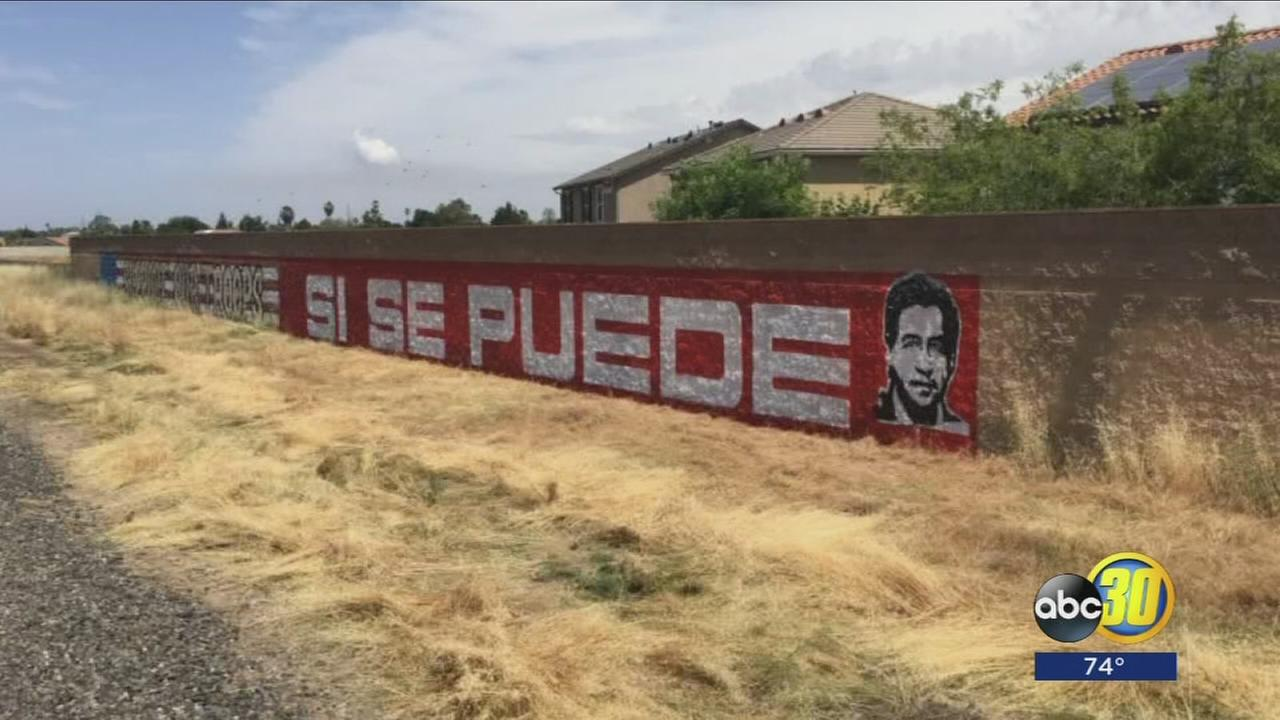 Local artists fuming after mural celebrating Cesar Chavez in Madera County painted over