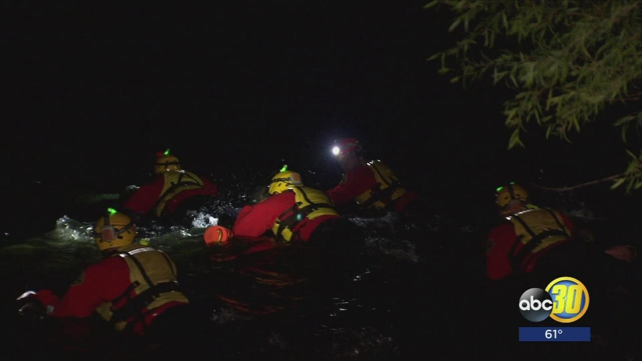 Fresno County crews train for high-risk, night time rescues ahead of swim season