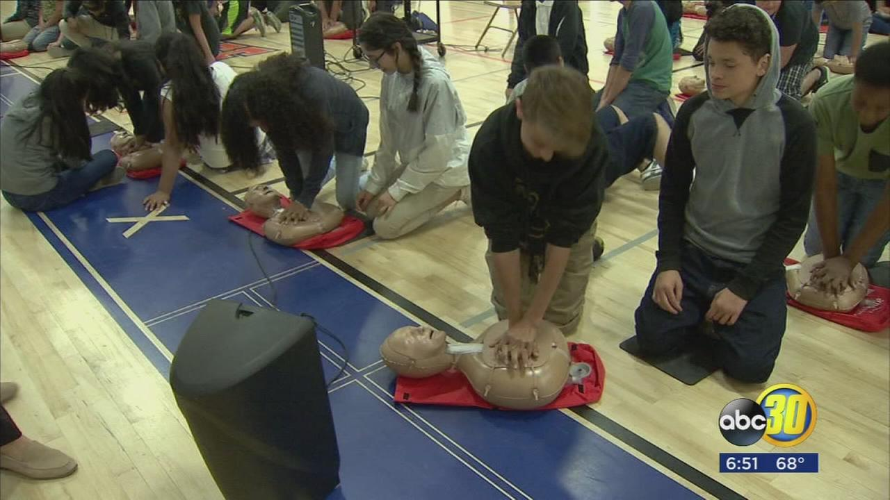 Valley Childrens teams up with the American Heart Association to give kids lifesaving skills