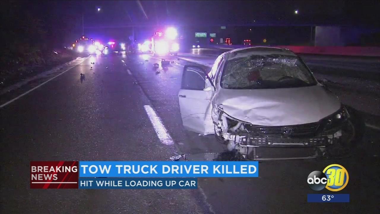 051517-kfsn-11pm-tow-truck-fatal-vid