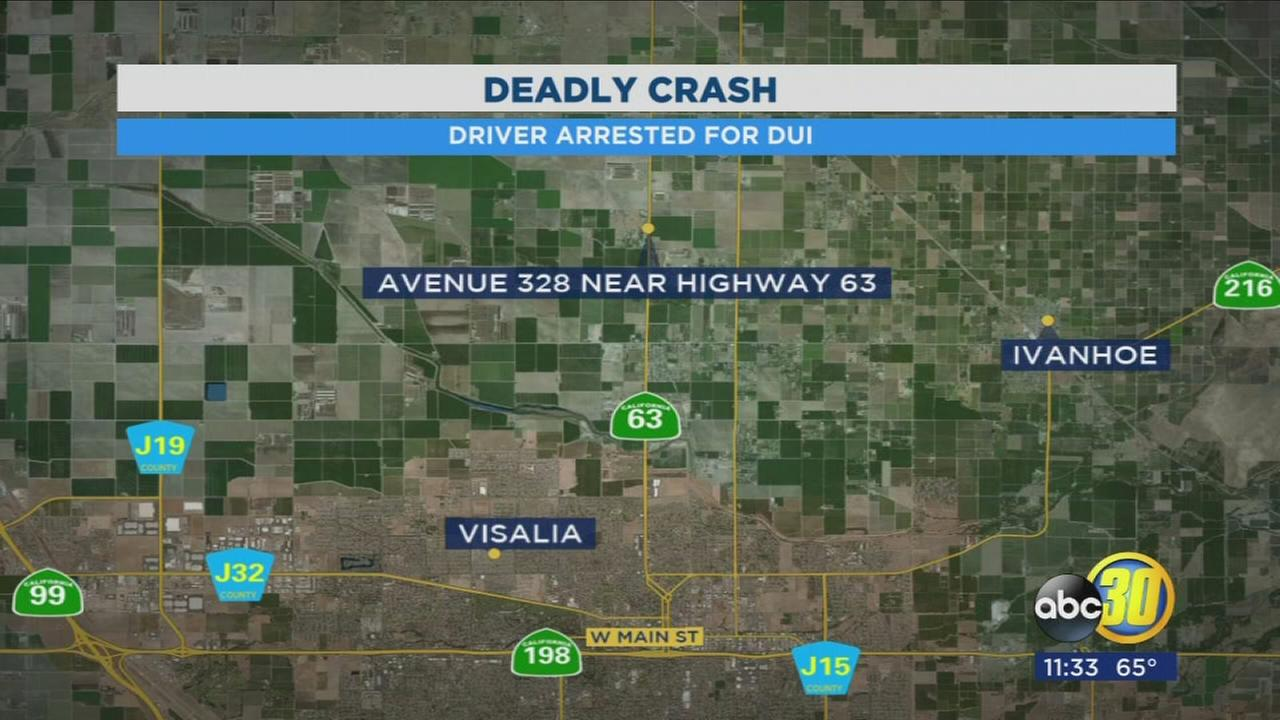 Visalia man is under arrest for causing a deadly crash, authorities say
