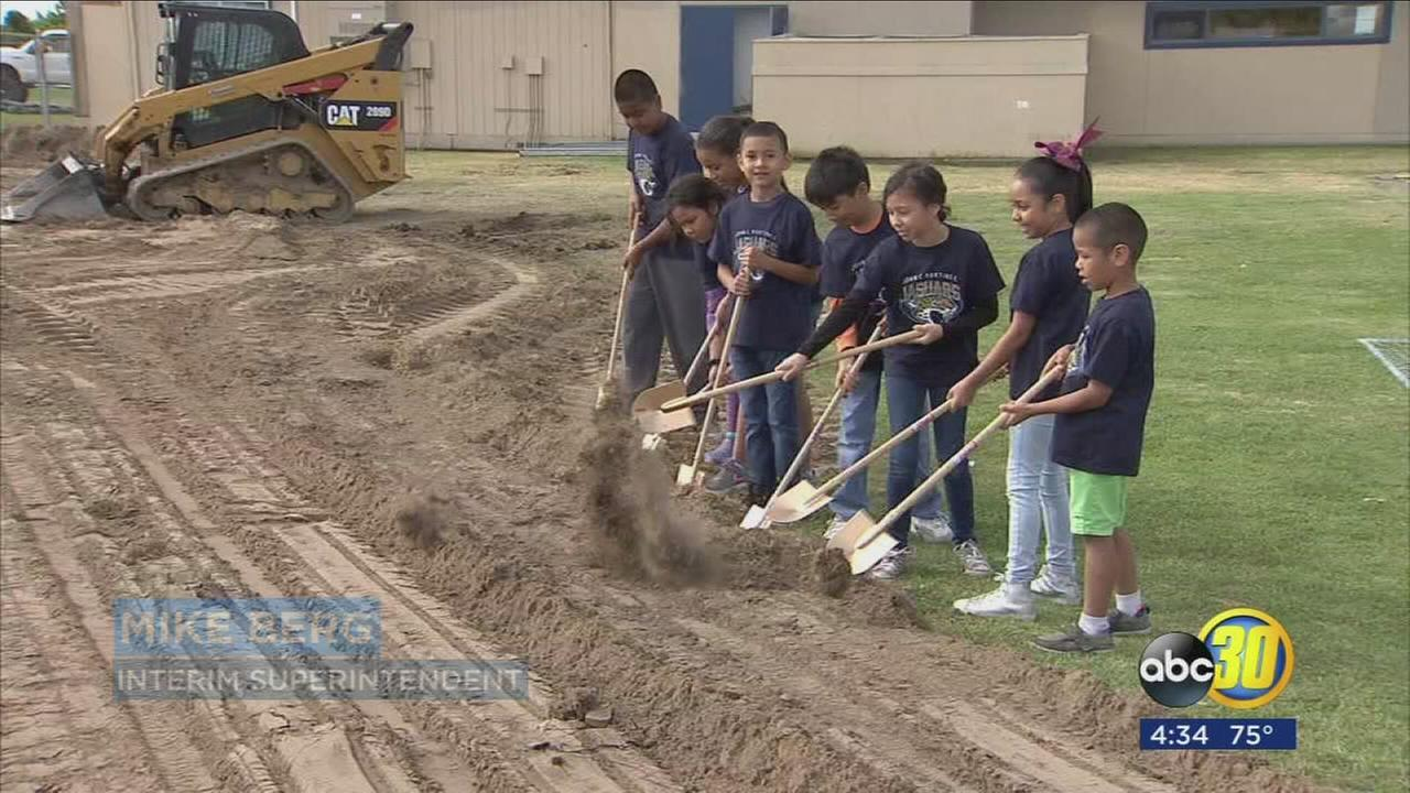 Elementary school in Parlier breaks ground on new multipurpose room