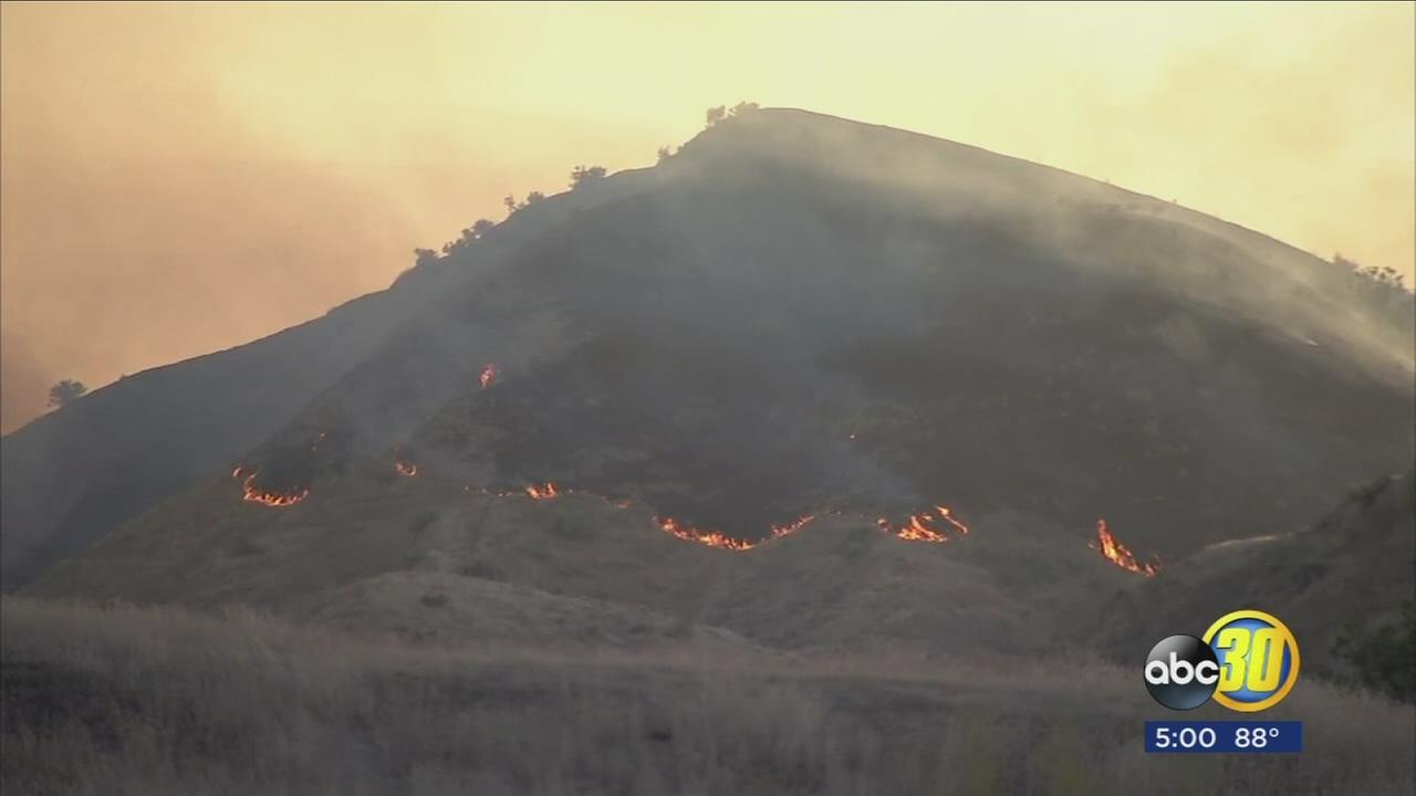 Elm Fire near Coalinga grows to 10,300 acres, 70 percent contained