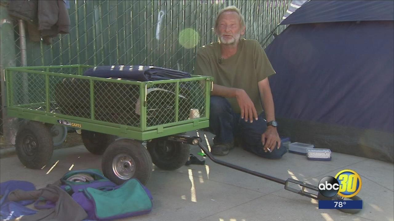 Man living on Fresno streets to help people with addiction