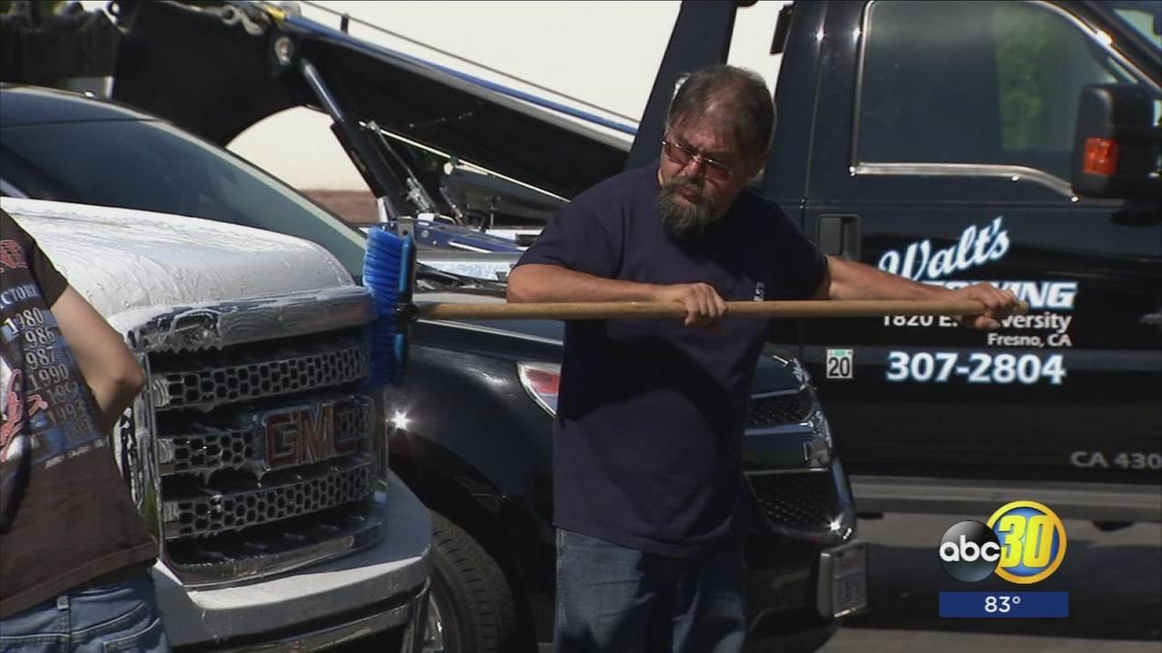 Towing companies unite to help family of Fresno driver killed in accident